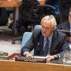 秘书长阿富汗事务特别代表海索姆在安理会发言  联合国图片/Eskinder Debebe