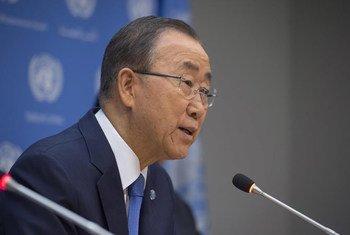 El Secretario General de la ONU, Ban Ki-moon en la sede en Nueva York. Foto: ONU/Eskinder Debebe