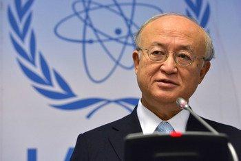 国际原子能机构总干事天野之弥资料图片。
