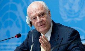L'Envoyé spécial de l'ONU pour la Syrie, Staffan de Mistura. Photo ONU/Jean-Marc Ferré