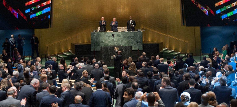 联合国可持续发展峰会开幕式现场。联合国/Cia Pak