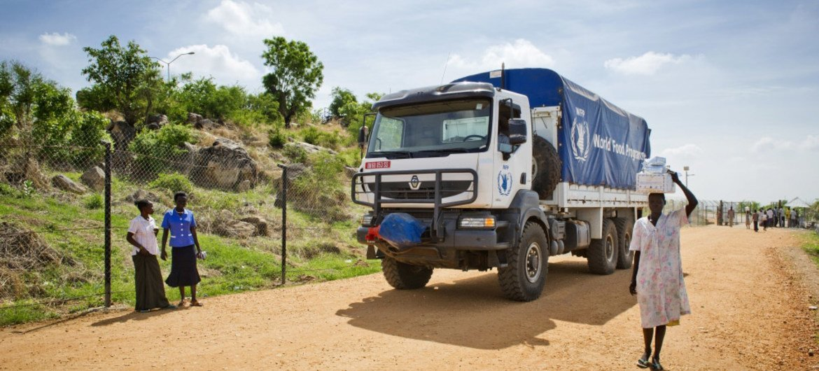 WFP delivering humanitarian aid.
