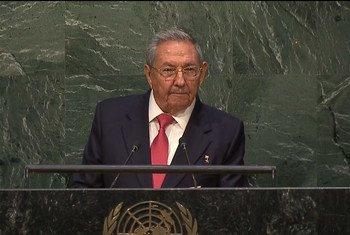 El presidente de Cuba, Raúl Castro. Captura de video UNTV