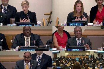Посланник мира ООН актриса Шарлиз Терон