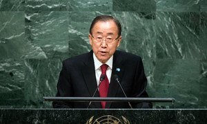 Secretary-General Ban Ki-moon presents his annual report on the work of the Organization at the opening of the general debate of the General Assembly's seventieth session.