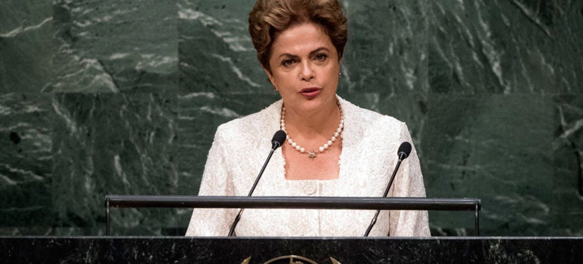 President Dilma Rousseff of Brazil addresses the general debate of the General Assembly's seventieth session.
