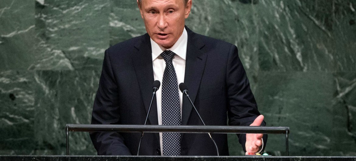 President  Vladimir Putin of the Russian Federation addresses the general debate of the General Assembly's seventieth session.