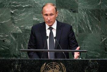 Le Président russe Vladimir Poutine à l'Assemblée générale des Nations Unies. Photo ONU/Cia Pak