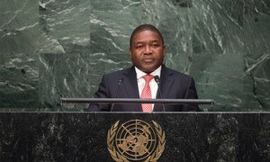 President Filipe Jacinto Nyusi of Mozambique, addresses the general debate of the General Assembly's seventieth session.