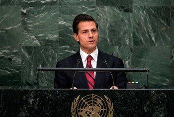 Enrique Peña Nieto, presidente de México. Foto de archivo: ONU/Cia Pak