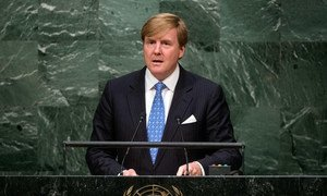 King Willem-Alexander of the Netherlands addresses the general debate of the General Assembly's seventieth session.
