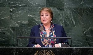 President Michelle Bachelet Jeria of Chile addresses the general debate of the General Assembly's seventieth session.
