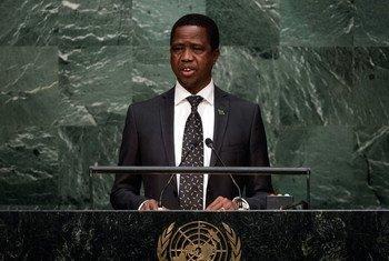El presidente Edgar Chagwa Lungu de Zambia recientemente indultó a un cantante condenado por violar a una adolescente. Foto: Archivo de la ONU/Cia Pak