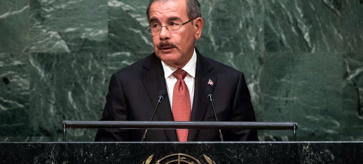 President Danilo Medina Sánchez of the Dominican Republic addresses the general debate of the General Assembly's seventieth session.