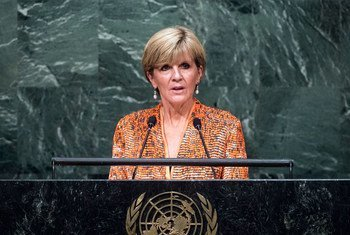Foreign Minister Julie Bishop of Australia addresses the general debate of the General Assembly's seventieth session.