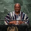 President John Dramani Mahama of Ghana addresses the general debate of the General Assembly's seventieth session.