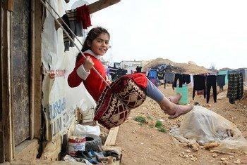 在黎巴嫩的叙利亚难民儿童。儿基会图片/Ramzi Haidar