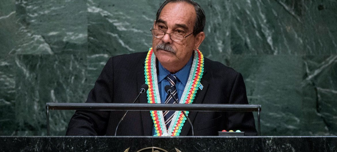 President Peter M. Christian of Micronesia addresses the general debate of the General Assembly's seventieth session.