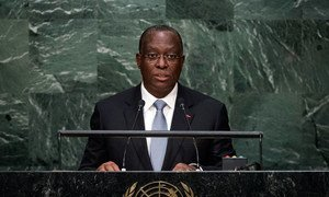 Manuel Domingos Vicente, Vice President of the Republic of Angola, addresses the general debate of the General Assembly's seventieth session.