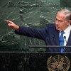 """El primer ministro israelí Benjamin Netanyahu arremetió contra la """"hostilidad obsesiva"""" de la ONU contra Israel. Foto: ONU/Cia Pak"""
