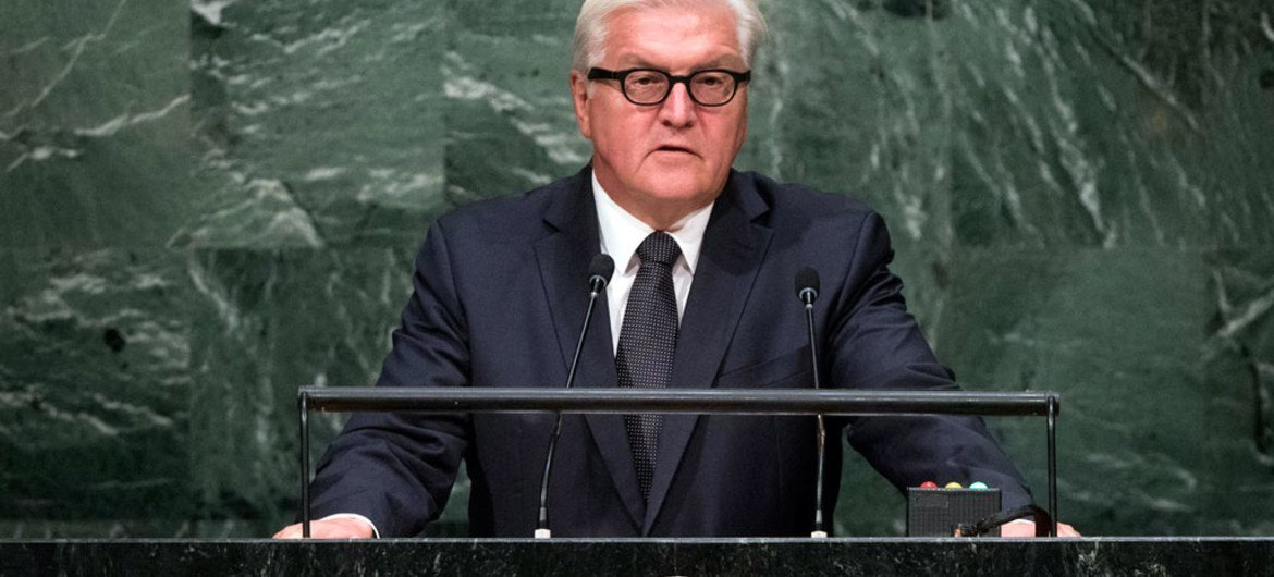 Foreign Minister Frank-Walter Steinmeier of Germany addresses the general debate of the General Assembly's seventieth session.