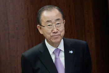 潘基文秘书长资料图片。联合国图片/Evan Schneider