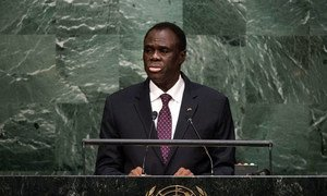 President Michel Kafando of Burkina Faso addresses the general debate of the General Assembly's seventieth session.