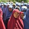 Students at the Hamar Jajab School in Mogadishu, Somalia on 20 January 2015.