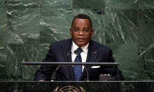 Foreign Minister Jean-Claude Gakosso of the Republic of the Congo addresses the general debate of the General Assembly's seventieth session.