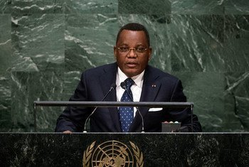 Le Ministre des affaires étrangères de la République du Congo, Jean-Claude Gakosso, lors du débat général de la 70ème Assemblée générale de l'ONU. Photo : ONU/Cia Pak
