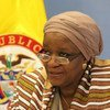 Zainab Hawa Bangura, Special Representative on Sexual Violence in Conflict, on a visit to Bogotá, Colombia in March 2015.