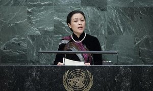 Ambassador Nguyen Phuong Nga of Viet addresses the general debate of the General Assembly's seventieth session.
