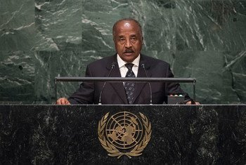 Foreign Minister of Eritrea, Osman Mohammed Saleh, addresses the general debate of the General Assembly's seventieth session.
