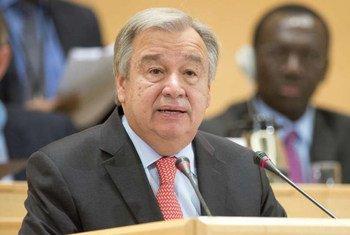 下届联合国秘书长候选人、葡萄牙前总理、前难民高专古特雷斯资料图片。难民署图片/Jean-Marc Ferré