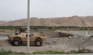 The Taliban has taken territory in Khanabad district in the Afghanistan province of Kunduz on the other side of a bridge pictured here in August 2015.
