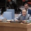 秘书长马里问题特别代表哈姆迪在安理会进行工作通报。联合国图片/Kim Haughton