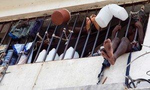 Des détenus emprisonnés au pénitencier national d'Haïti (Archives)