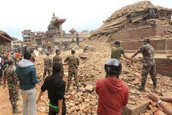 Kathmandu Valley, Nepal, after the April 2015 earthquake.