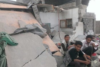 Homes in Yemen destroyed by coalition airstrikes.