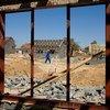 Zona residência sendo construída em Joanesburgo