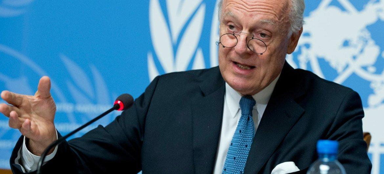 من الأرشيف: مبعوث الأمم المتحدة الخاص لسوريا ستيفان دي ميستورا المصدر: الأمم المتحدة / جان مارك فيري