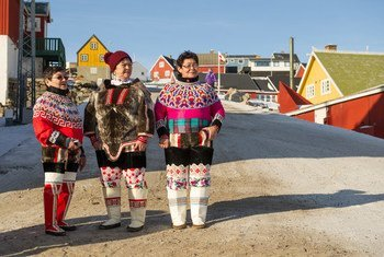 International Day for Disaster Reduction 2015 is dedicated to the power of traditional, indigenous and local knowledge. Shown here, indigenous Inuit women in the Uummannaq community of Greenland.
