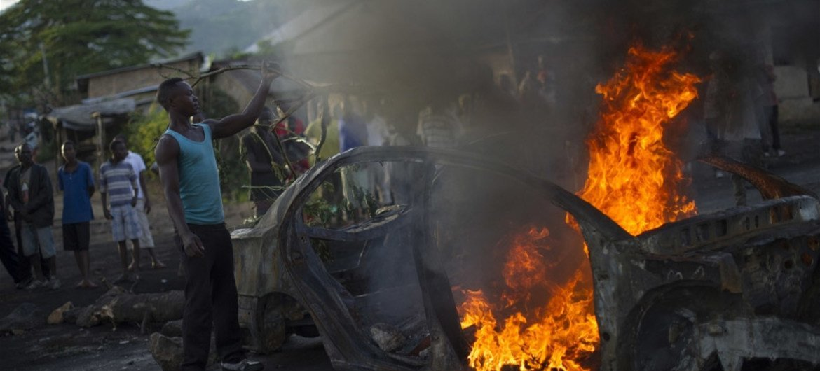 Bujumbura, the capital of Burundi, has been rocked by political violence for months.