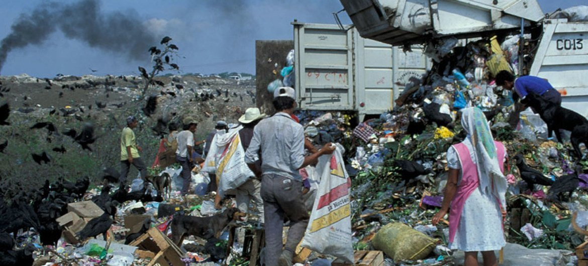 Landfills are a major source of methane emissions, and improved management can capture the methane as a clean fuel source as well as reducing health risks.
