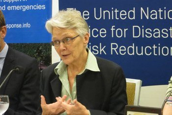 Head of the UN Office for Disaster Risk Reduction (UNISDR) Margareta Wahlström opens the 2015 Pacific Regional Disaster Resilience Meeting in Suva, Fiji.