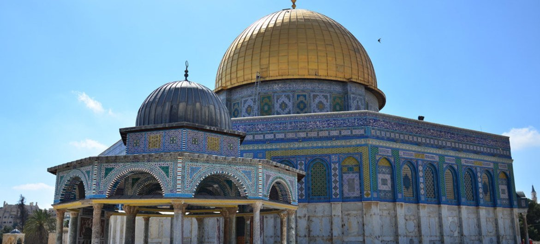 The Haram al Sharif/Temple Mount in Jerusalem.