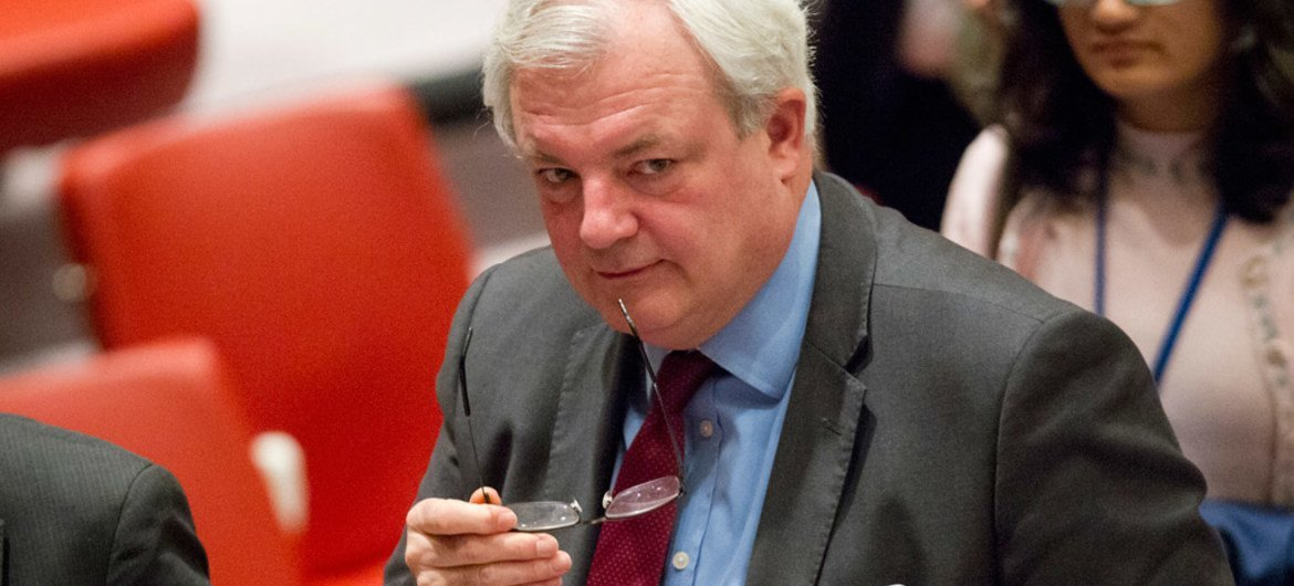 Under-Secretary-General for Humanitarian Affairs and Emergency Relief Coordinator Stephen O'Brien at the Security Council meeting on the situation in Syria.