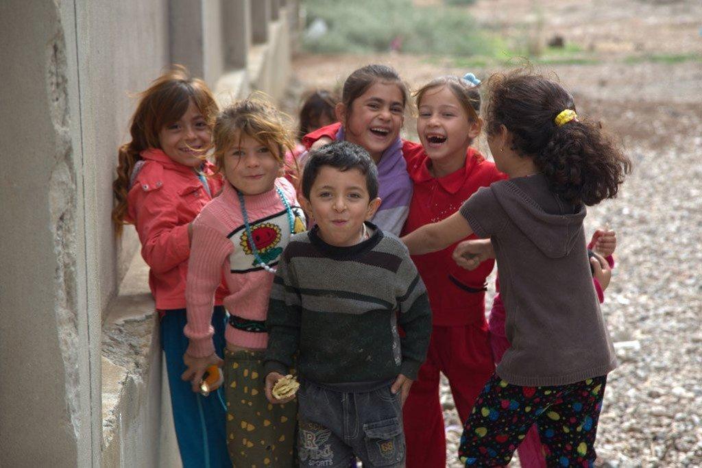 伊拉克儿童。人道协调厅图片