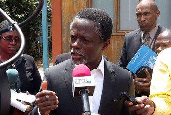Parfait Onanga-Anyanga, jefe de la MINUSCA. Foto de archivo: MINUSCA