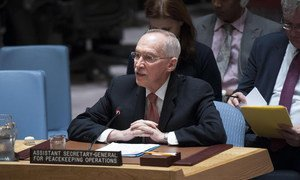 Assistant Secretary-General for Peacekeeping Operations Edmond Mulet briefs the Security Council.